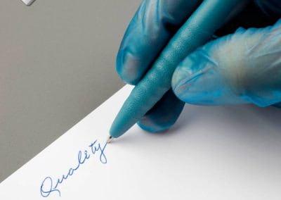 Bolígrafo detectable de Tinta Gel para baja temperatura, retráctil sin clip